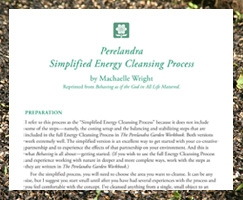 Perelandra Simplified Energy Cleansing Process