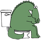 Bathroom Dino