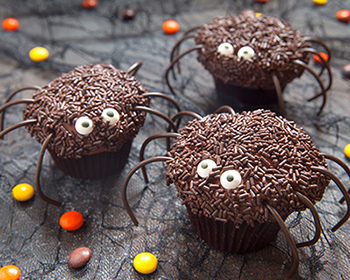chocolate spider cakes